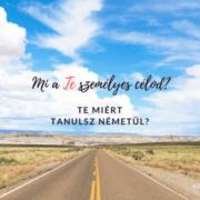 Német nyelvtanulás és személyes cél